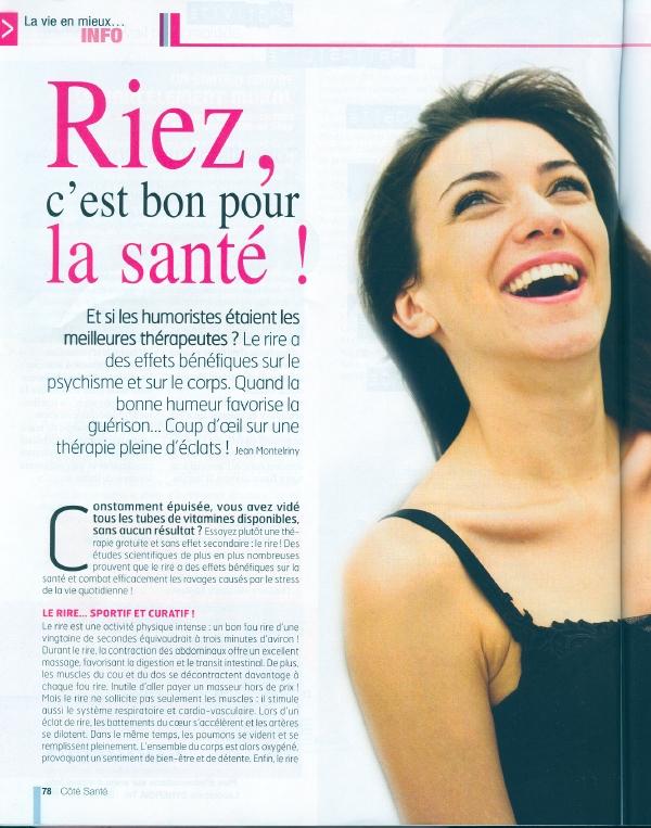 Top Coeur de Rire - Revue de presse par supports - Clémentine Dunne  JU27